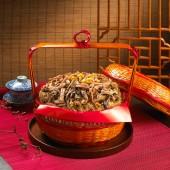 滿意謝籃-15斤(油飯15斤)$1680 建議售價:$1680元 材料:油飯15斤、栗子、香菇、 瘦肉、蝦仁