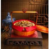 滿意謝籃-5斤(油飯5斤)$700 建議售價:$700元 材料:油飯5斤、栗子、香菇、 瘦肉、蝦仁
